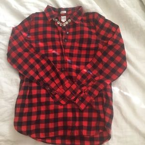 J Crew Factory perfect fit flannel popover